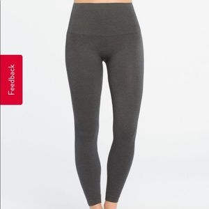 Spanx seamless charcoal grey leggings
